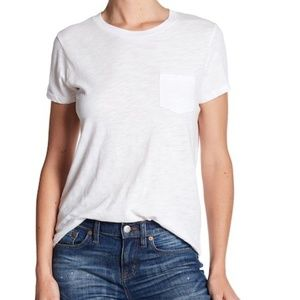 Madewell Crew Neck Pocket T-Shirt XS White